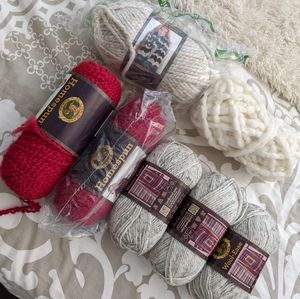 Holiday and Bright Color Yarn Bundle